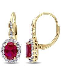 Rina Limor 14k 3.42 Ct. Tw. Diamond & Gemstone Earrings - Metallic
