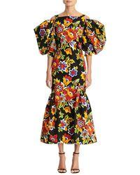 Carolina Herrera Silk-blend Dress - Black