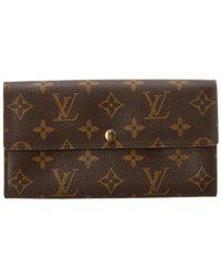 Louis Vuitton - Monogram Canvas Porte-monnaie Credit Wallet - Lyst