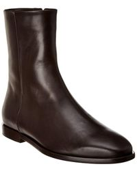 Theory Phacel Leather Bootie - Brown