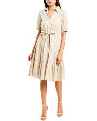 Donna Morgan Linen-blend Shirtdress - Brown