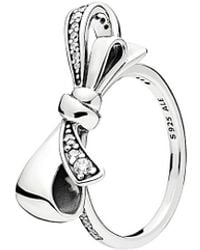 PANDORA Brilliant Bow Ring Size 9 197232cz60 - Metallic
