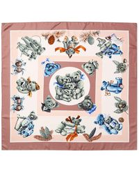 "Hermès ""confidents Des Coeurs,"" By Loic Dubigeon Silk Scarf - Pink"