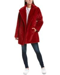 Avec Les Filles Double-breasted Peacoat - Red