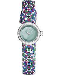 Dior Dior La D De Dior Diamond Watch - Blue