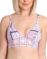 Nanette Lepore Lauren Longline Fixtri Bikini Top - Multicolour
