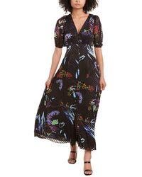 Tanya Taylor Ariela Silk-blend Maxi Dress - Black