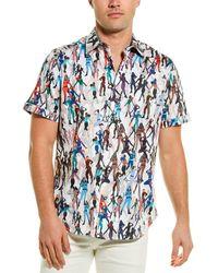 Robert Graham Trixie Woven Shirt - Blue