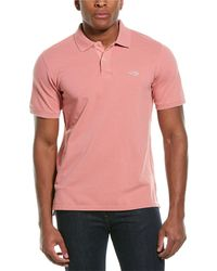 Ovadia Pique Washed Polo Shirt - Pink
