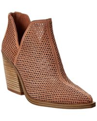 Vince Camuto Gibbela Leather Bootie - Brown