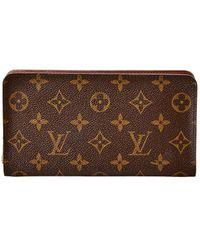 Louis Vuitton Monogram Canvas Porte Monnaie Zippy Wallet - Brown