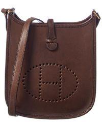 Hermès Brown Leather Evelyne I Tpm