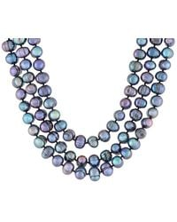 Splendid 9-10mm Freshwater Pearl Endless 100in Necklace - Blue