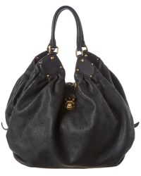 Louis Vuitton Black Mahina Leather Extra Large Hobo