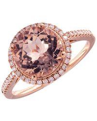 Meira T 14k Rose Gold 2.37 Ct. Tw. Diamond & Morganite Ring - Pink