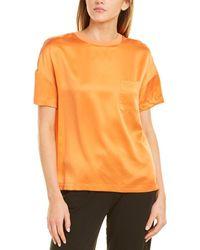 Badgley Mischka Pocket Silk Top - Orange