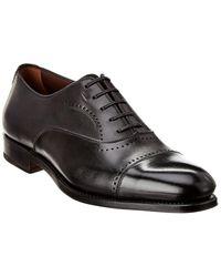 Ferragamo Leather Oxford - Black