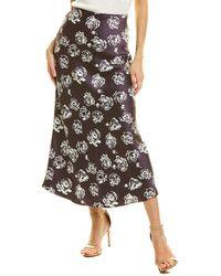 Club Monaco Printed Slip Skirt - Purple