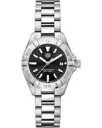 Tag Heuer Aquaracer Black Dial Ladies Watch Wbd1410.ba0741 - Metallic