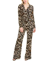Diane von Furstenberg Melinda Leopard-print Jumpsuit - Black