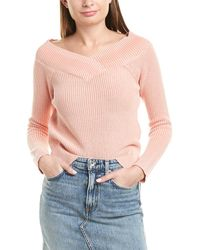 Rag & Bone Dawn Off-the-shoulder Sweater - Pink
