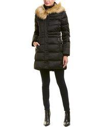 Tahari Stefani Puffer Coat - Black