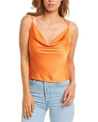 Dance & Marvel Cowl Cami - Orange