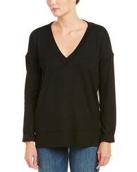 French Connection Pleated Back Top - Black