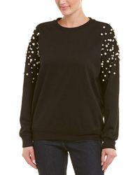 Romeo and Juliet Couture Pearl Bead Sweatshirt - Black