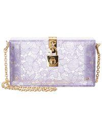 54844e3654e9 Dolce   Gabbana - Dolce Plexiglass   Lace Box Clutch - Lyst