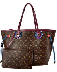 Louis Vuitton Monogram Canvas Totem Neverfull Mm Nm - Brown