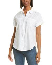 NYDJ Camp Shirt - White