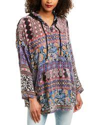 Johnny Was Karma Aztec Silk-blend Hoodie - Multicolour