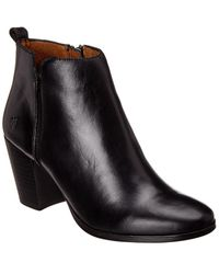 Frye Meghan Leather Bootie - Black