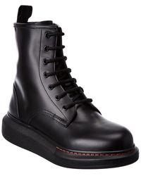 Alexander McQueen Leather Boot - Black