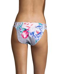 6 Shore Road By Pooja Santiago Bikini Bottom - Blue