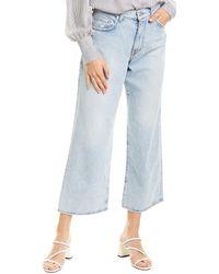 bldwn Cropped Wide Leg Pant - Blue