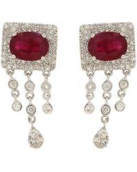 Meira T 14k 2.58 Ct. Tw. Diamond & Ruby Studs - Multicolor