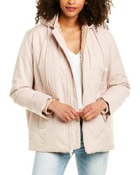 Vince Quilted Puffer Wool-blend Jacket - Natural