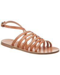 Ancient Greek Sandals Sandals Korkira Leather Sandal - Brown