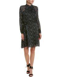 Reiss - Aubrie Silk Cold Shoulder Shift Dress - Lyst