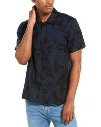 7 For All Mankind 7 For All Mankind Camp Shirt - Blue