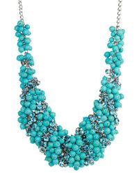 Saachi - Resin & Glass Beaded Statement Necklace - Lyst