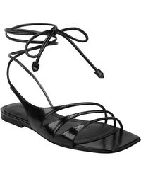 Sigerson Morrison Faune Leather Sandal - Black