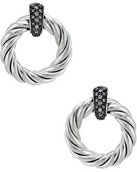 David Yurman - David Yurman Metro Silver 0.28 Ct. Tw. Diamond Earrings - Lyst