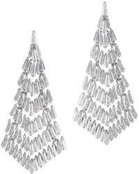 CZ by Kenneth Jay Lane - Plated Deco Fringe Earrings - Lyst