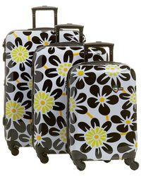 Mia Toro Italy Ekko 3pc Luggage Set - Black