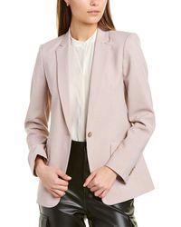 Club Monaco Borrem Wool-blend Blazer - Pink