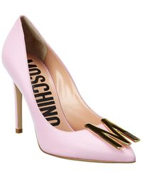 Moschino Leather Pump - Pink