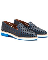 Aquatalia - Zanna Perforated Waterproof Leather Loafer - Lyst